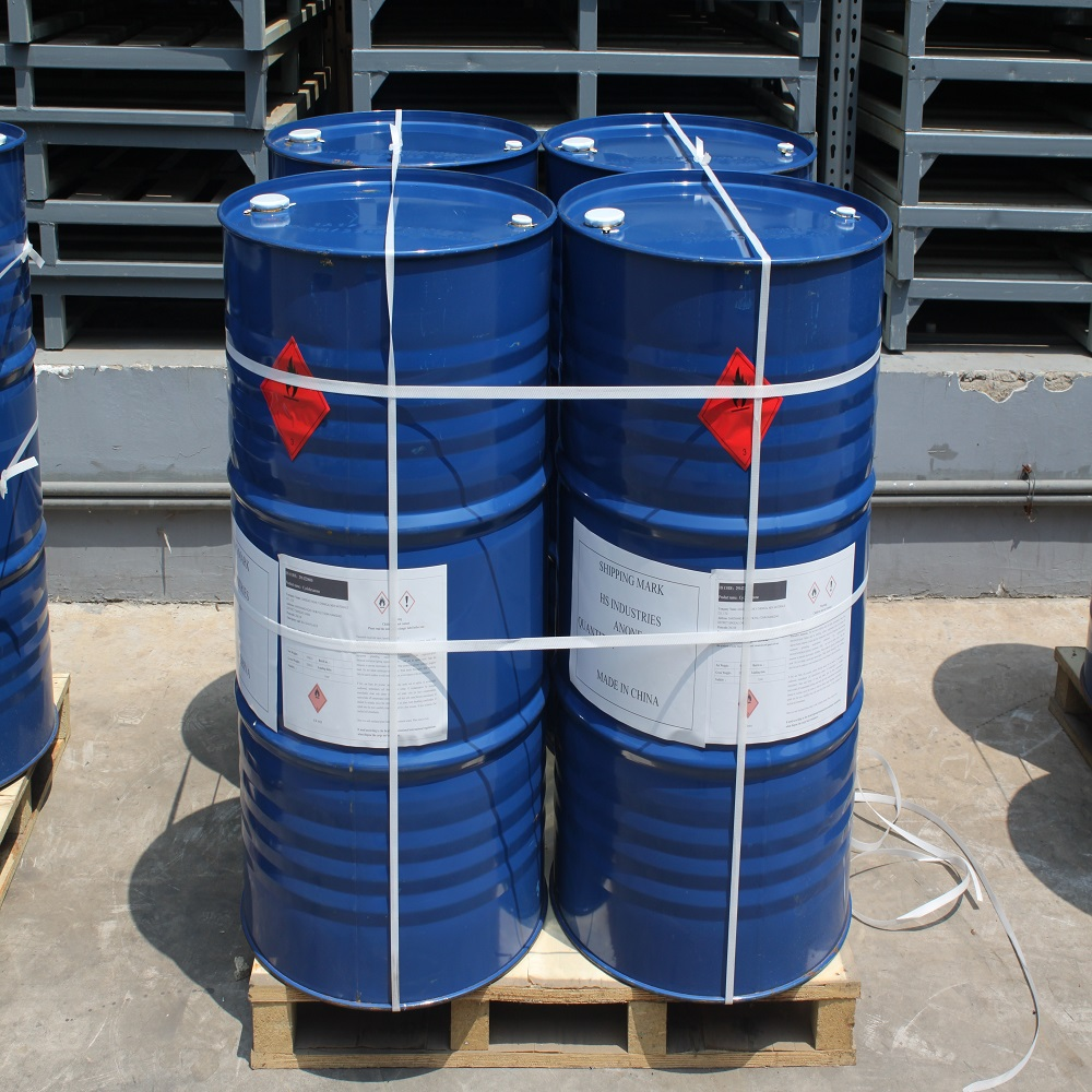 This picture shows four steel drums of 99% isopropyl alcohol ready for export. Isopropyl alcohol is exported from our manufacturers in China.